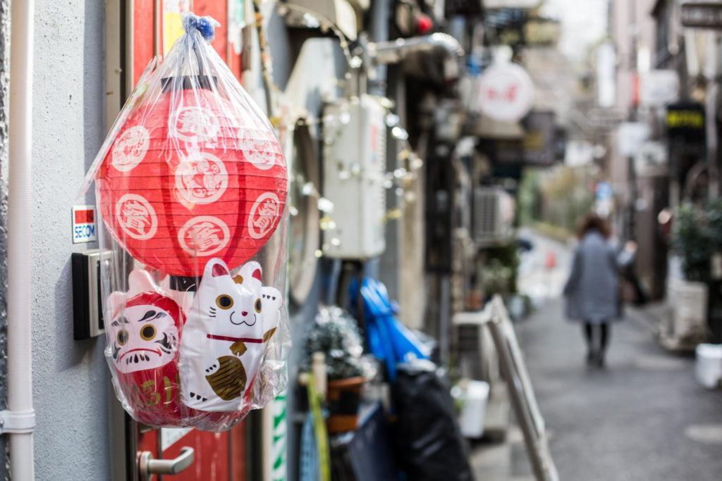 Maneki neko decorations in Golden Gai