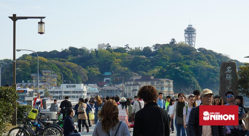 Crowds at Enoshima
