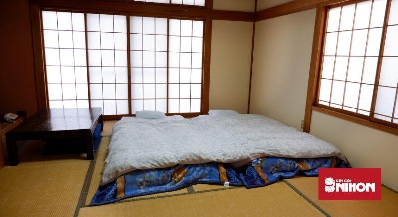 Futon dans une maison japonaise