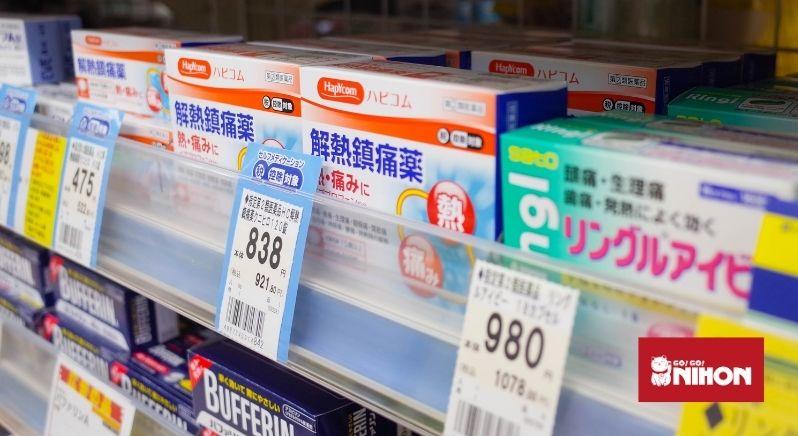 Medicine on shelves
