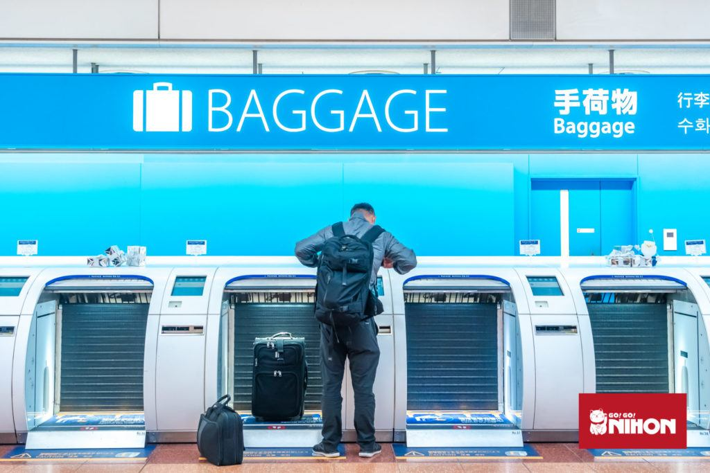 Luggage drop at airport Japanese host family