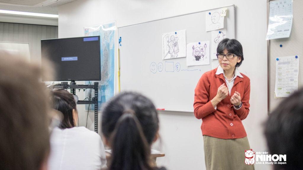 Japanese teacher in class