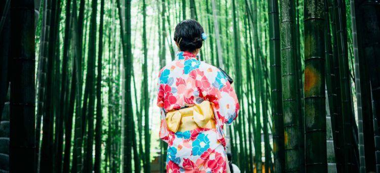 Wearing a yukata