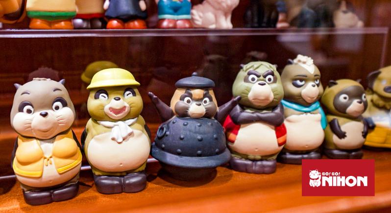 Tanuki figurines