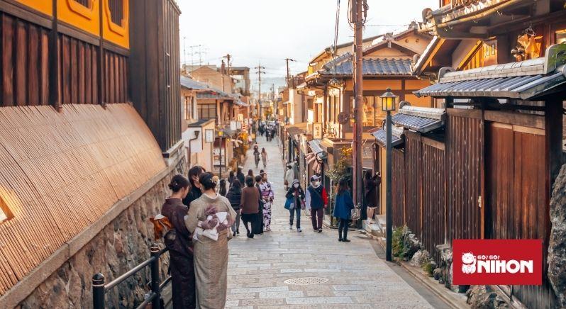 Old street tin Kyoto