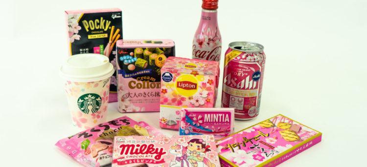 Cibo e bevande al gusto sakura in Giappone