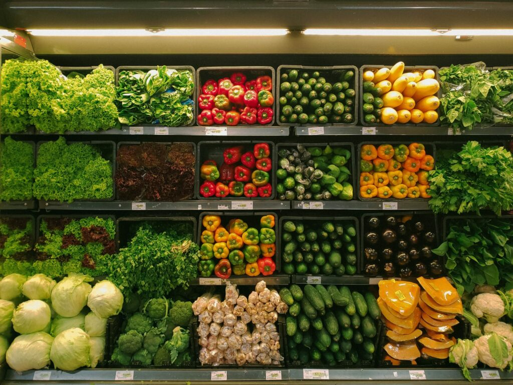 vegetables in an aisle