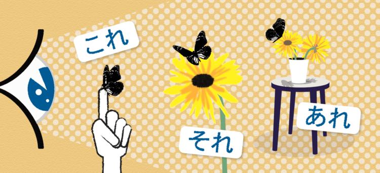 differenza tra kore sore e are in giapponese