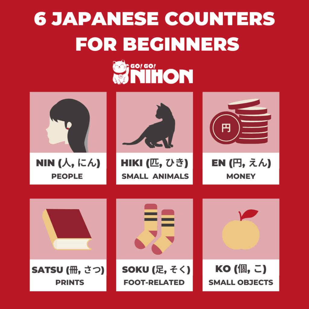 6 Japanese counters for beginners English