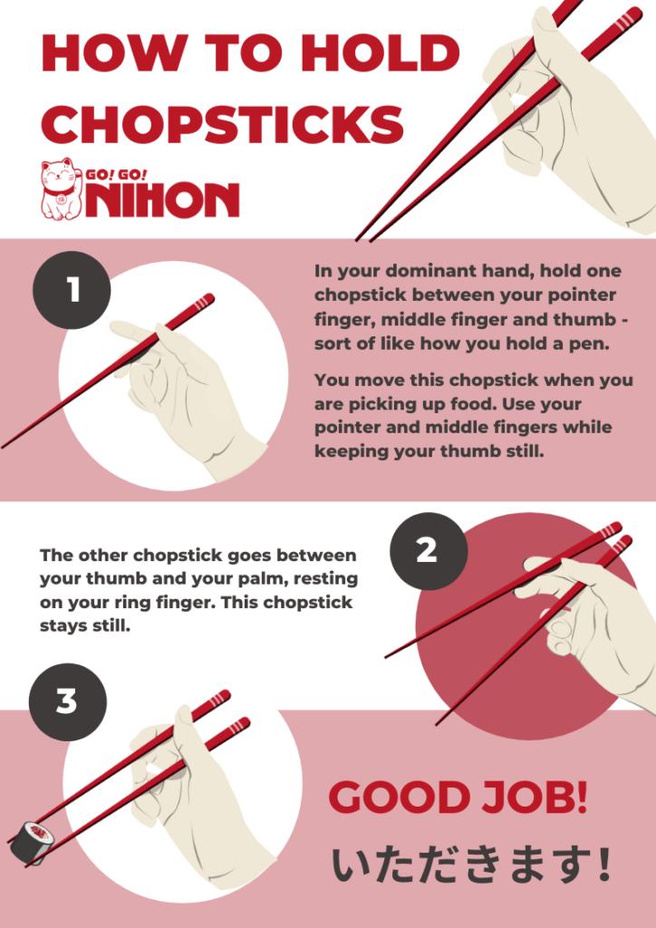 How to hold chopsticks English