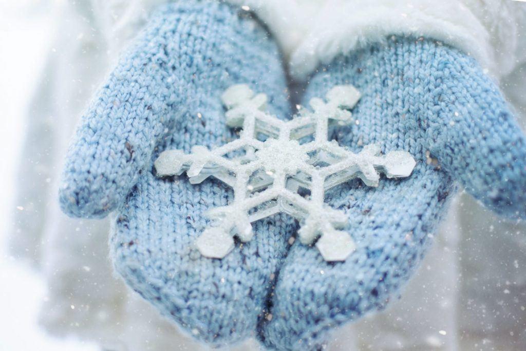 Snowflake on glove