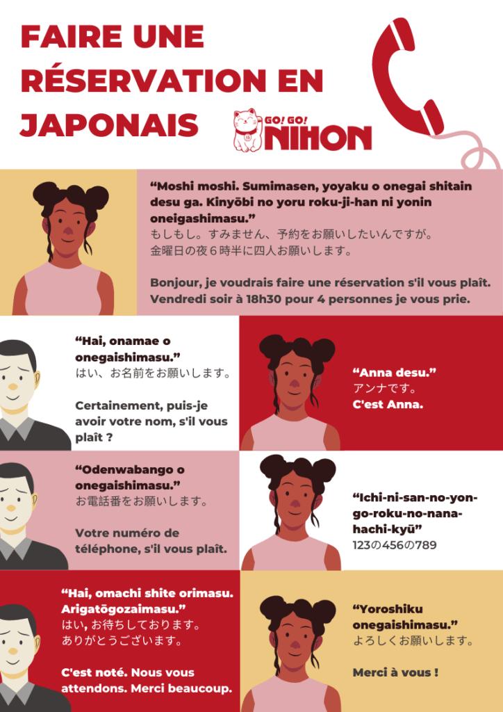 Faire un réservation en japonais