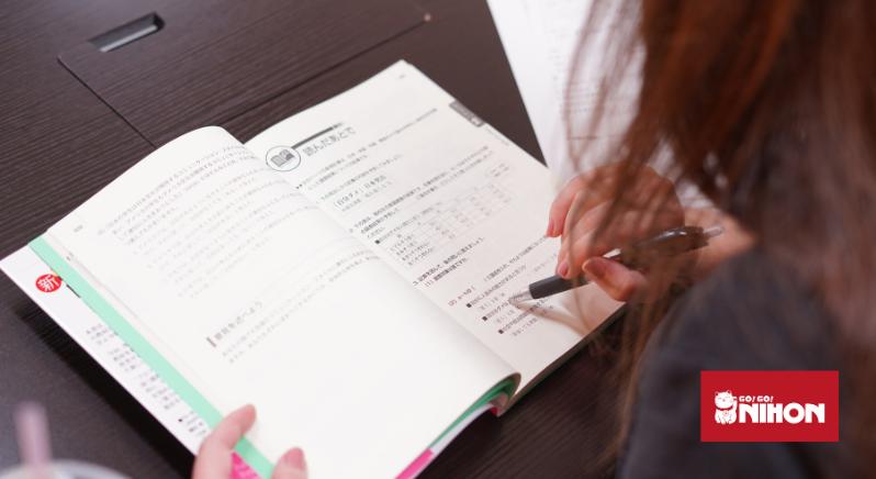 student studying Japanese
