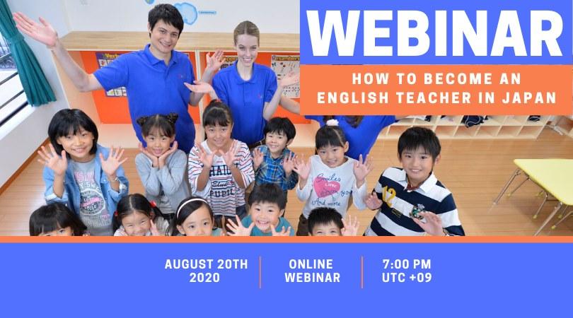 Webinar per insegnare inglese in Giappone