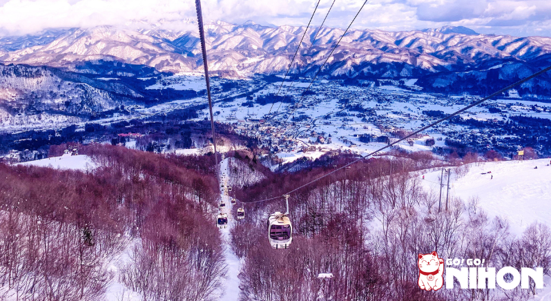 Snowy mountains in Japan