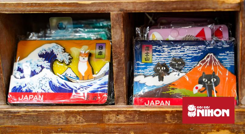 ukiyo-e art on keychains