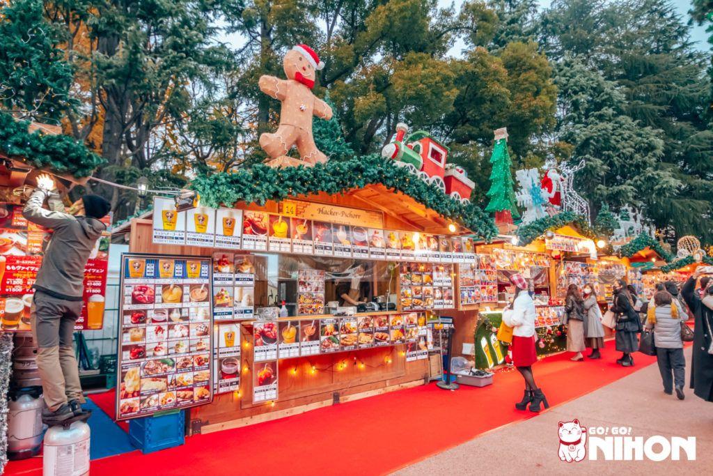 Tokyo Christmas market stalls