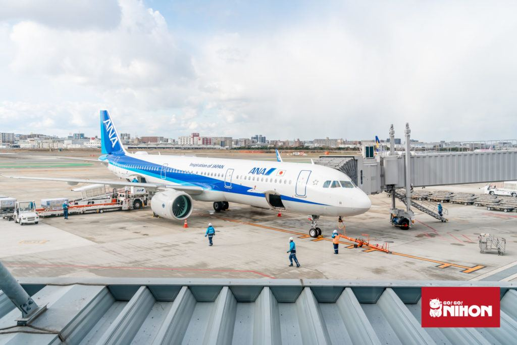 ANA Flugzeug am Flughafen Haneda