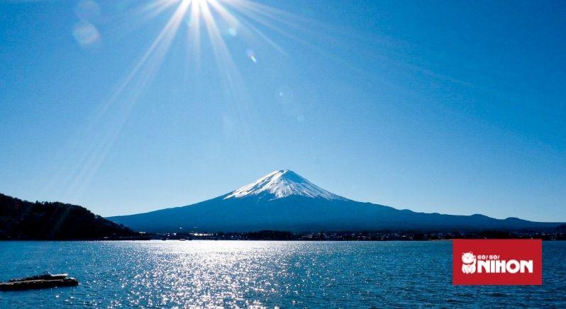 Mt Fuji from lake